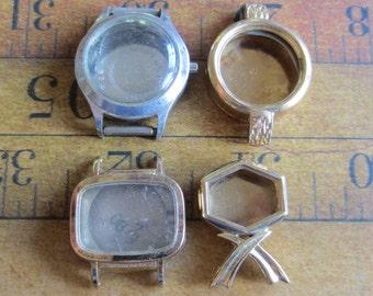Vintage  Watch parts - watch Cases -  Steampunk - Scrapbooking  k41