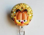 Garfield ID Badge Reel - ID Badge Holder - Zipperedheart