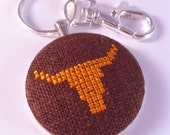 SALE! Longhorn stitched key chain