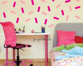 Sprinkles wall decals, nursery decals, wall sprinkle decals, peel and stick decal, girl wall decal, ice cream sprinkles sticker, vinyl decal
