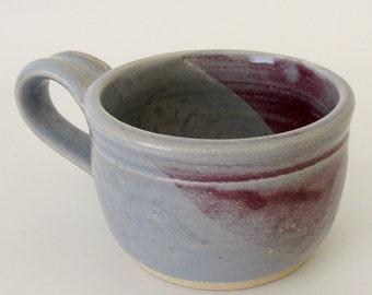 Mug: Rose. Mauve. Blue-Gray. Alice Blue. Semi-Matte. Coffee. Cocoa. Tea.11oz.