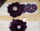 Lace Garter,Wedding,Garter,Plum,Plum Garter Set,Camel Garter Set,PlumWedding,Plus Size Garter,Plus Size Bride