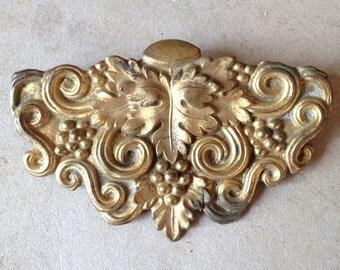 Brass art nouveau belt buckle
