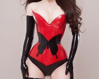 Lady Lucie Latex 'Morgana' latex corset (various colours available)