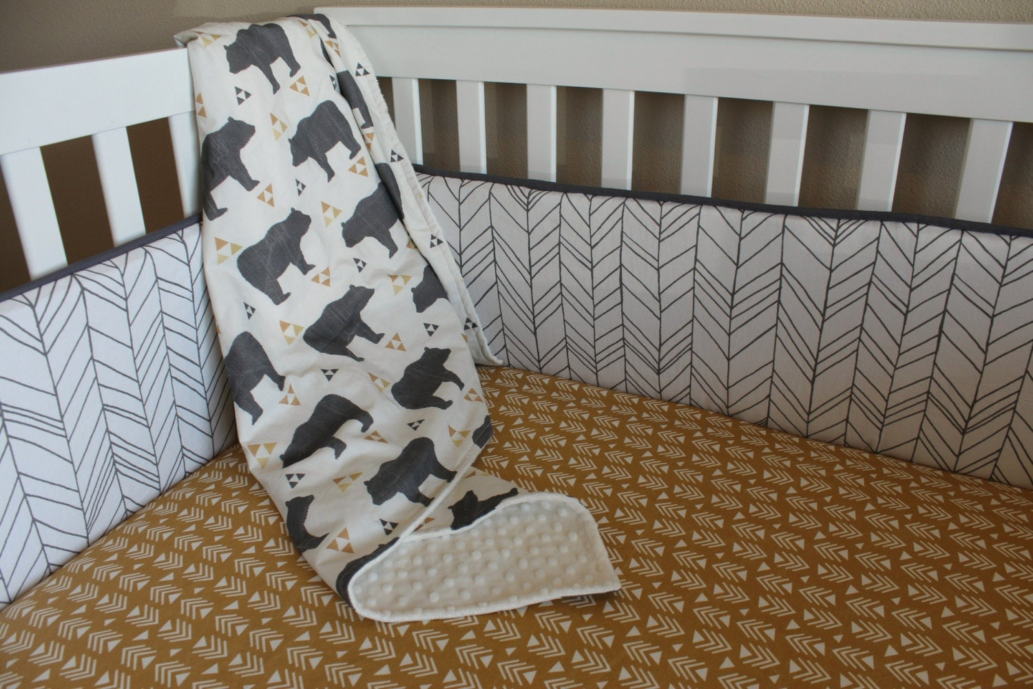 Custom Crib Bedding Set Little Adventurer