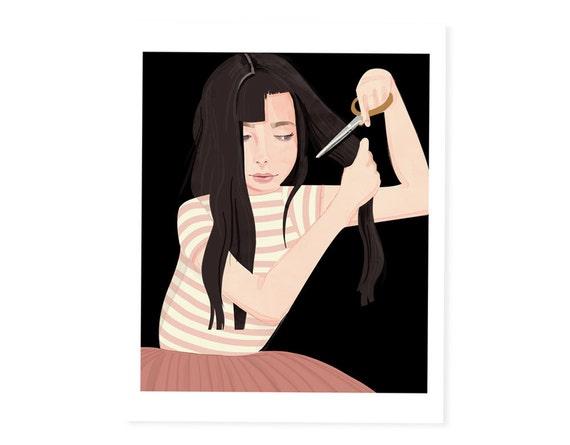 Hair No. 1 (Cut) - 8x10 art print