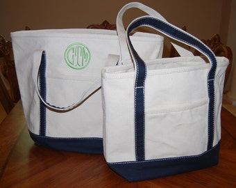 Medium Canvas Tote Bag, Personalized