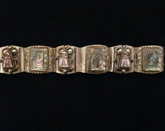 VintageTaxco Sterling Abalone Bracelet