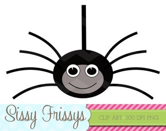 INSTANT DOWNLOAD - Personal Use - Commercial Use - Digital Embellishment - Digital Art - Halloween Spider Clipart - Scrapbooking- 98713998