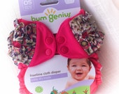 SALE - bumGenius - Freetime - All-in-one - custom ruffle - Countess Pink Floral