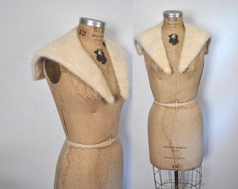 Blonde Mink Fur Collar / vintage