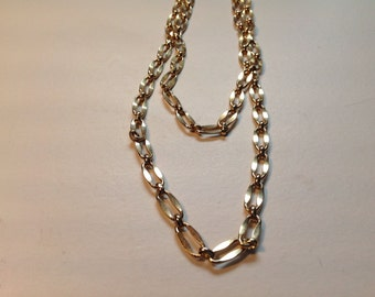Vintage large link chain necklace