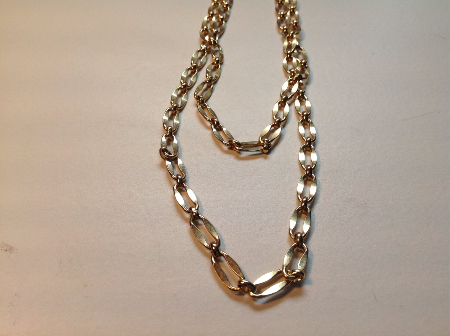vintage large link chain necklace by suesdesigns on etsy