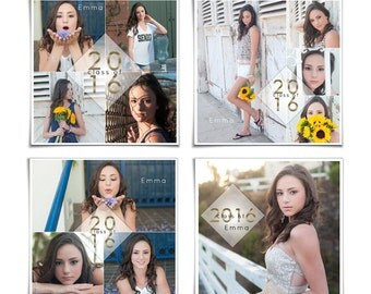 SOCIAL MEDIA BOARDS - Class Of 2016 - (4) Fully Layered Digital Photoshop .psd Files For Your Social Media Pages.