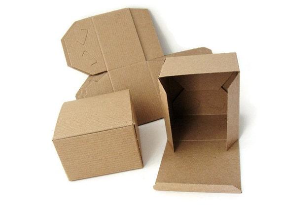 6 boites cadeau carton kraft recycl emballage pour bijoux - Emballage cadeau boite carton ...