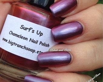 Chameleon Nail Polish - Color Shifting Nail Polish/Lacquer - SURF'S UP - Regular Full Sized Bottle (15 ml size)