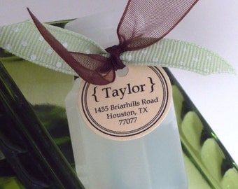 Mini Bubbles Favor Tags - Wedding New Address for Married Couple