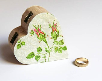 Rustic Ring Bearer Box - Wedding Pillow Alternative