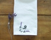 ON VACATIONmonogram lavender tea towel / personalized / custom/ gift idea / spring home decor / kitchen / flour sack towel / monogram / emb
