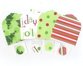 SALE - Assorted Christmas Mini Elegant Envelopes, Inserts and Envelope Seals (4) CEMN3 / Ready To Ship