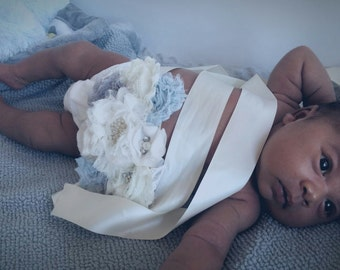 Custom colors Belly Pregnancy Sash, Belly bouquet, Maternity Sash, Pregancy photo shoot