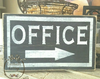 Handpainted Office Sign