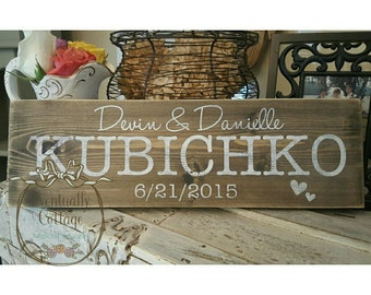 Wedding Names and Date sign