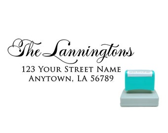Personalized Self Inking Pre Inked Custom Made Return Address Stamp R213