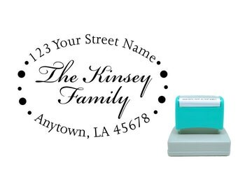 Personalized Self Inking Return Address Stamp - self inking address stamp - Custom Rubber Stamp R265