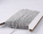 Stainless Steel chain bulk,  10 ft spool of Surgical Stainless Steel 316L Sturdy tiny curb chain - 1.80mm Unsoldered Link