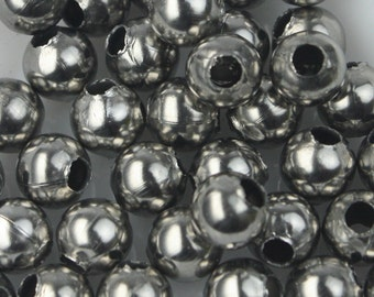 30 pcs of Stainless Steel Round Spacer Beads - 8mm