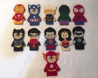 Superhero Finger Puppet Set