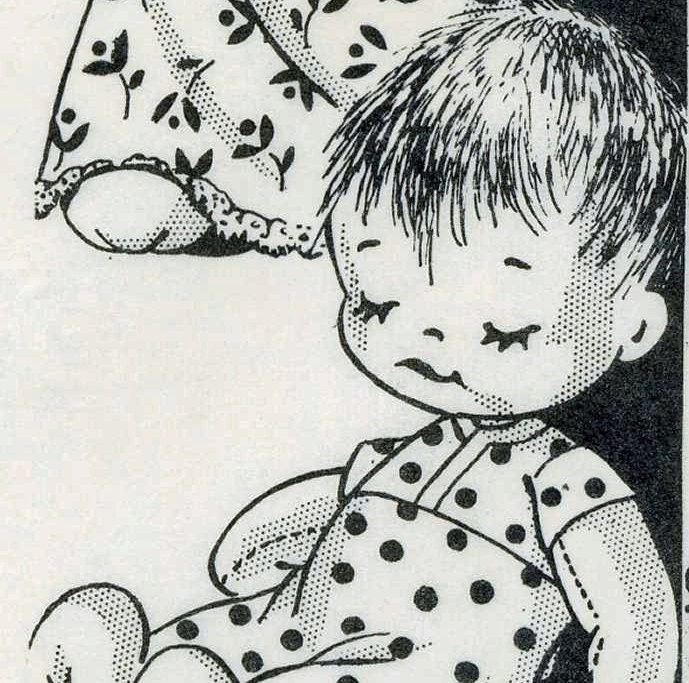 Old Sock Doll PATTERN 736 a 12 inch Boy & Girl Awake and