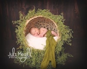 Newborn Poser Photo Prop, Natural Globe to Sleep Newborn Baby Cabana Photography Prop, Photography Props, Wicker, Props for Babies