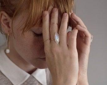 Delicate Teardrop Gold Ring