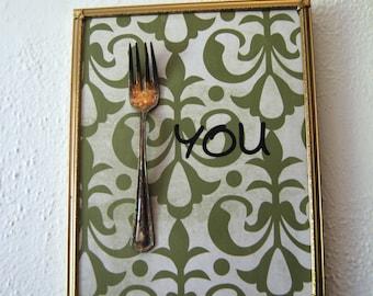 Vintage Fork You Wall Art, Home Decor, Humor