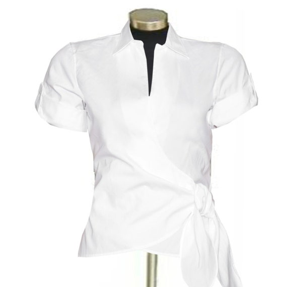Shop white cotton blouse at Neiman Marcus, where you will find free shipping on the latest in fashion from top designers.