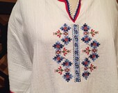 Vintage Cotton Embroidered Top Free Shipping