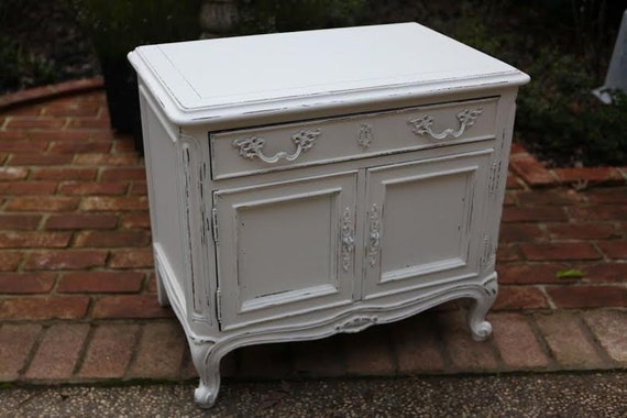 French large bedside table tv console or nightstand vintage for French nightstand bedside table