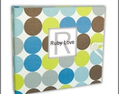 MOD Blue and Green Dots Baby Book | Baby Memory Book