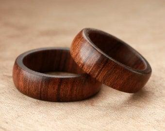 Custom Matching Tamboti Wood Rings - 7mm
