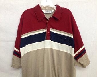 1980s Mens Classics short sleeve 3 button shirt.
