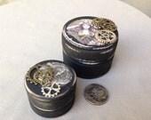 Steampunk, Steam Punk, wedding, ring box, jewelry box, powder box, gift box, trinket box