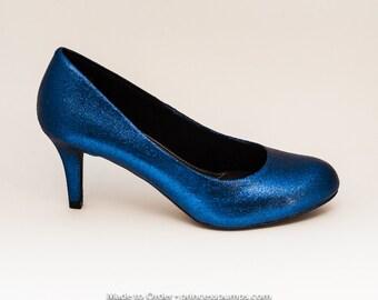 blue glitter heels – Etsy