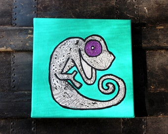 Your Own Happy Chameleon: Positive Thinking Artwork on Your Wall
