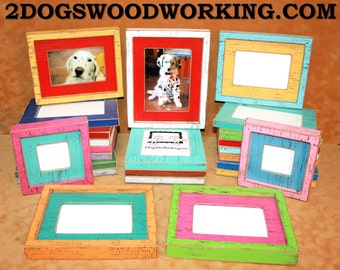 9x12 picture frame, Colored frame, Black photo Frame, weathered frame, Distressed frame, colorful fun frame, shabby frame, 67 colors 1.5""
