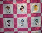 Sailor Moon Lap Quilt