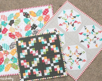 Sweetness (a trio of mini quilts) Pattern #105 PAPER quilt pattern