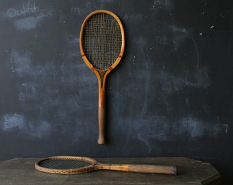 Antique Tennis Rackets Choose One Rhode Island E.Kent Duchess or Columbia 1920s From Nowvintage