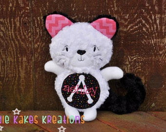 Personalized Plush Kitty Cat / Stuffed Animal